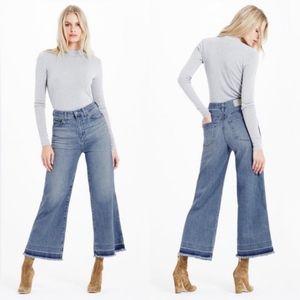 AG Yvette Wide Leg Ankle Jeans 30 High Rise A140